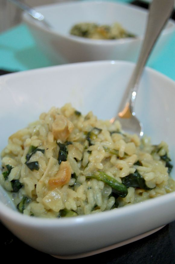 risotto with fork