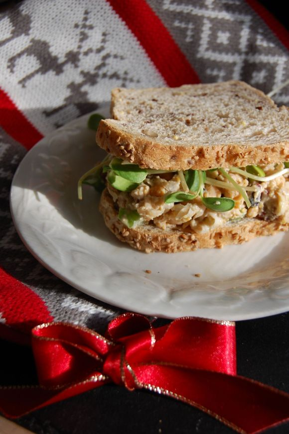 sandwich with christmas gear