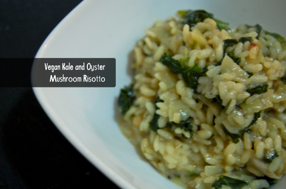 vegan risotto with text