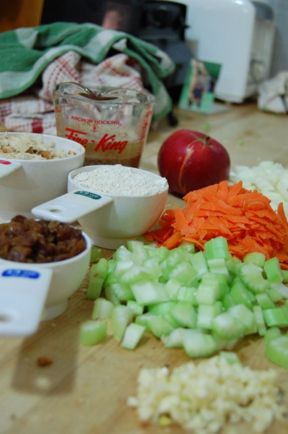 ingredients for no-meat loaf